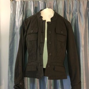 size2 military khaki jacket by Parallel green